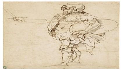 Sotheby's - Wanda Rotelli Tarpino - Raffaello - Standing Figure in Armor - 1506-07 - est $800.000-1.200.000 - Sotheby's - Wanda Rotelli Tarpino - Sotheby's - 350X200