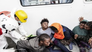 24 November 2016. 146 people rescued by MOAS (the Migrant Offshore Aid Station) on 24 November 2016 in the Mediterranean Sea. They were disembarked in Pozzallo on the 27th November.