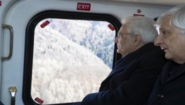 21363 - Il Presidente della Repubblica Sergio Mattarella - Belluno - Sorvolo dei Luoghi Colpti dall'Alluvione 2018 - 350X200