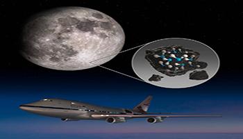 La SOFIA della NASA scopre l'acqua sulla superficie della luna illuminata dal sole