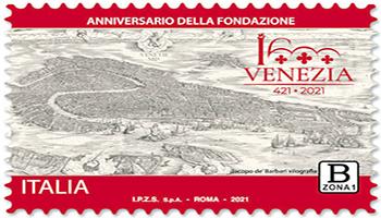Venezia compie 1.600 anni, emesso francobollo commemorativo