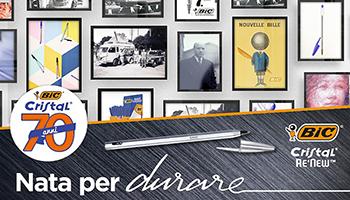 La penna Bic Cristal compie 70 anni e diventa ricaricabile