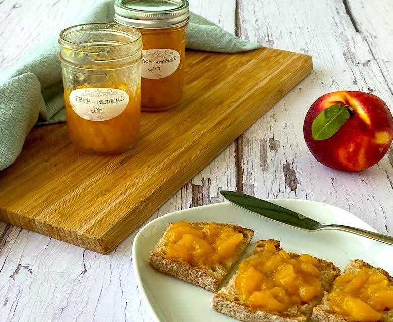 Peach Nectarine Jam Low Sugar Italian Kitchen Confessions
