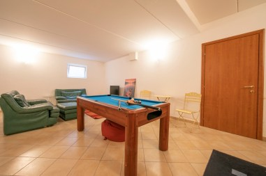 Games room with pool table and table football
