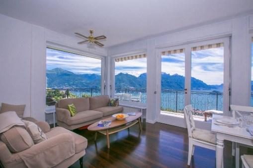 Lake view living room