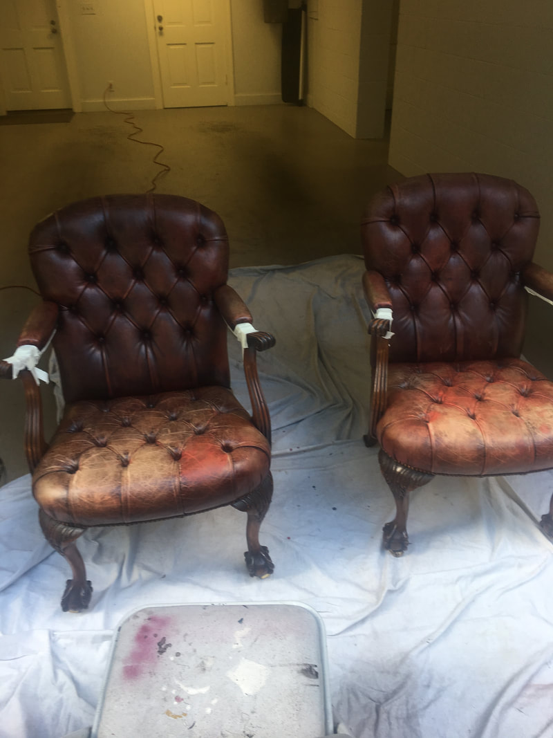 Brown Leather Tufted Chairs The Leather Repair Specialist