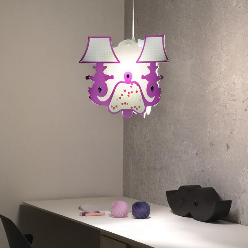 Soluzioni di illuminotecnica moderne e funzionali per casa e ufficio. Lampadario Sospensione Cameretta Ragazze Bambine Moda Linea Zero