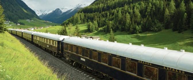 Vintage train exterior scene