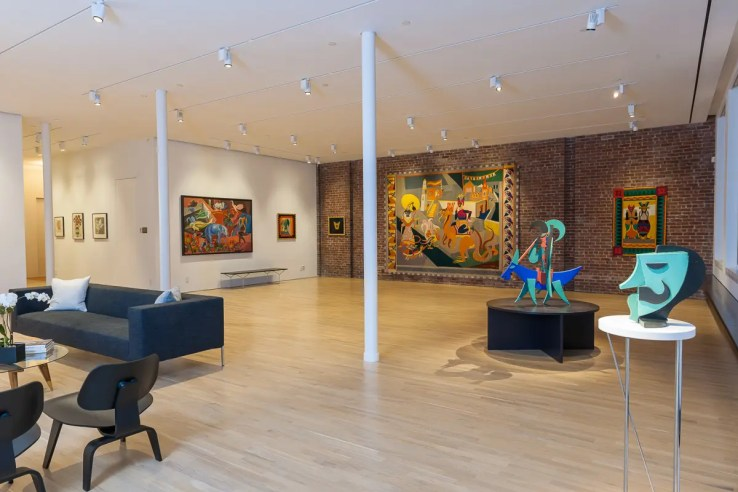 View of the Fortunato Depero installation at the Center for Italian Modern Art, 2014. Photo by Walter Smalling Jr.