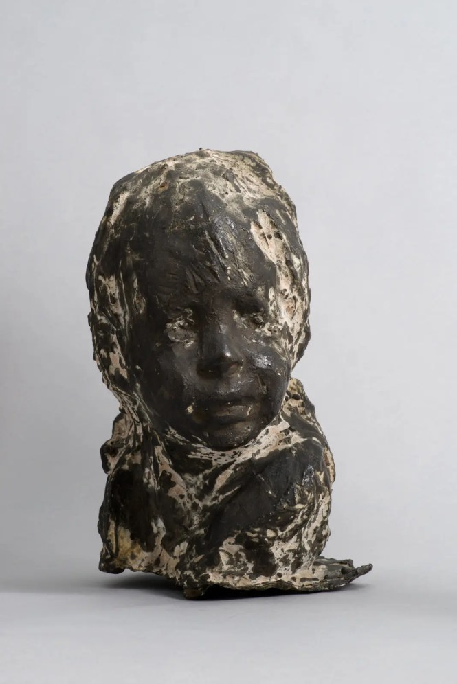 Medardo Rosso, Bambino ebreo, c. 1892-1893 / cast prior to 1902, bronze. Image courtesy of Peter Freeman, Inc., photography by Jerry Thompson.