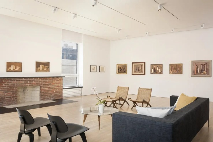 View of the Giorgio Morandi installation at the Center for Italian Modern Art. Photo by Walter Smalling Jr., 2015.