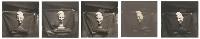 Medardo Rosso, Rieuse (Laughing Woman), c.1930s. Reprint from the vintage original of c. 1910, 6.1 x 6.1 cm. Private collection.