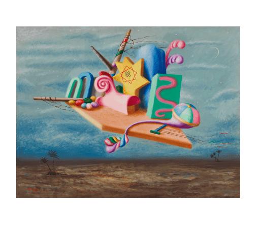 """Alberto Savinio, """"I re magi (The Wise Men),"""" 1929. Mart – Museo di arte moderna e contemporanea di Trento e Rovereto, Rovereto (c) 2017 Artists Rights Society (ARS) / SIAE, Rome. Photo: Dario Lasagni"""