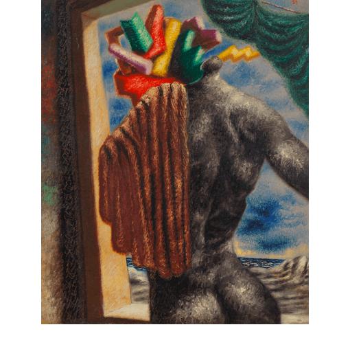 """Alberto Savinio, """"Prometeo (Prometheus),"""" 1929. Private Collection, Courtesy Galleria Tega, Milan (c) 2017 Artists Rights Society (ARS) / SIAE, Rome. Photo: Dario Lasagni"""