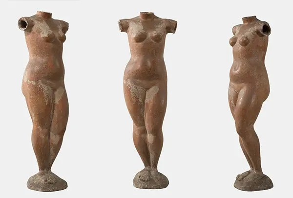 "Marino Marini, ""Venere,"" 1945. Terracotta, h. 113 cm. Private Collection."