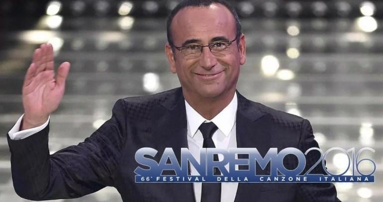Sanremo 2016 Carlo Conti www.movietele.it