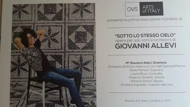 Giovanni Allevi lancia la campagna di Ovs Arts of Italy
