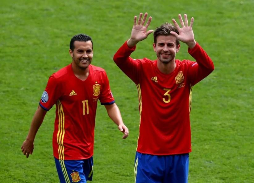 Euro2016 Spagna Repubblica Ceca Pedro Piquè