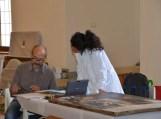 Restauratori al lavoro nel Museo del Palazzo reale di Pisa (ph. In24/P. Russo)