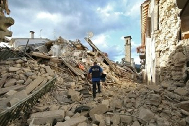 Terremoto amatrice macerie