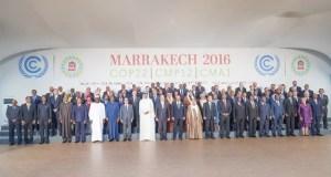 Foto di gruppo dei partecipanti alla Conferenza Onu sul clima di Marrakech in Marocco