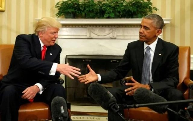 L'incontro alla Casa Bianca tra il presidente uscente Barack Obama e il neoeletto Donald Trump