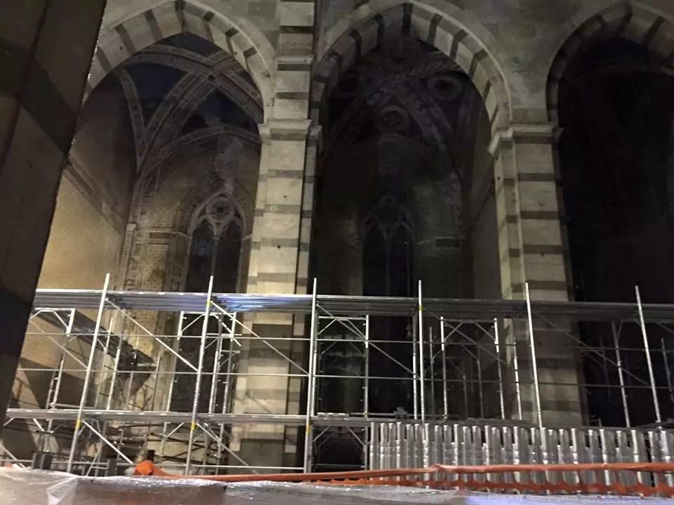 Pisa chiesa San Francesco impalcature
