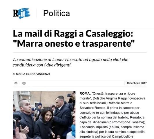 Repubblica Mail Raggi Casaleggio