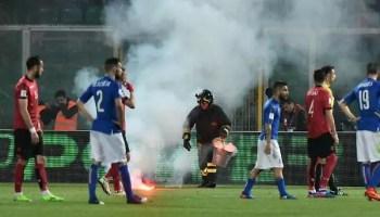 Palermo Italia Albania 2 0 fumogeni