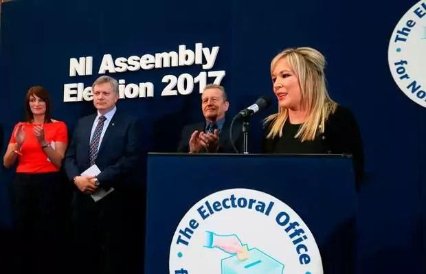 La leader dello Sinn Fein Michelle O'Neill (ph. Niall Carson/PA Wire)