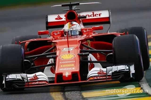 La Ferrari Sf70H di Sebastian Vettel al Gp Australia (ph. emb. Motorsport)