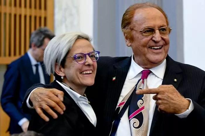 Renzo Arbore e Elena Anticoli nipote di Totò