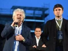 """""""Grillo e Di Battista indagati"""" per diffamazione."""
