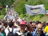 La marcia per il Reddito di cittadinanza del Movimento 5 stelle.