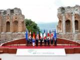 G7 Taormina, foto ricordo nel teatro greco
