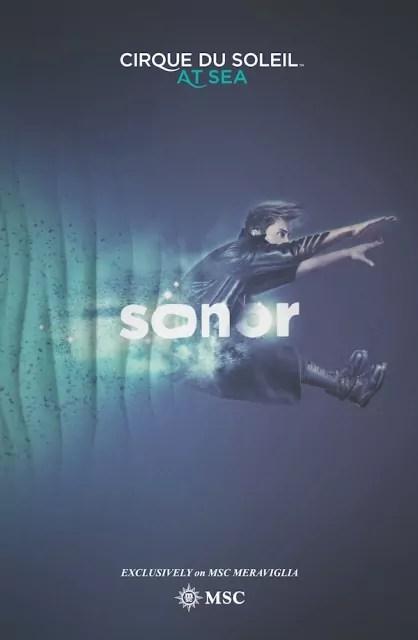 Sonor, uno dei due spettacoli che Cirque du Soleil terrà sulla nave Msc Meraviglia.