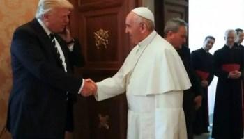 L'incontro tra Donald Trump e Papa Francesco in Vaticano.
