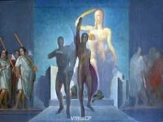 I Dioscuri di Edgardo Sambo, una delle opere della collezione d'arte di proprietà dell'Università di Udine