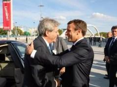 Incontro Gentiloni - Macron, raggiunto l'accordo tra Italia e Francia per l'operazione Fincantieri-Stx. Agli italiani il 51% dei cantieri Saint Nazaire.