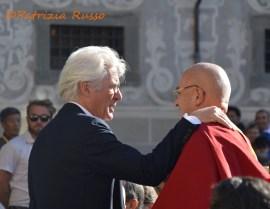 L'attore Richard Gere affezionato discepolo del Dalai Lama (ph. In24 / P. Russo).