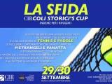La locandina della Sfida, il torneo di tennis e paddle che si terrà a Roma il 28 e 29 settembre per sostenere il Consiglio italiano Rifugiati.