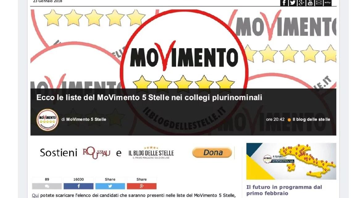 Movimento 5 stelle parlamentarie 2018