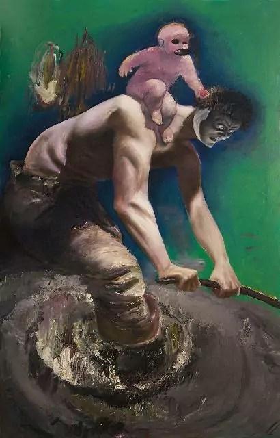 Pietro Geranzani, Met, 2007-2015, olio su tela (cm 185x115).