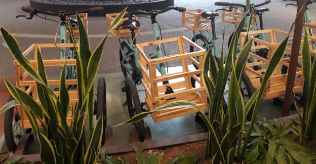Le bici a tre ruote Bianchi Fico Eataly World Russo