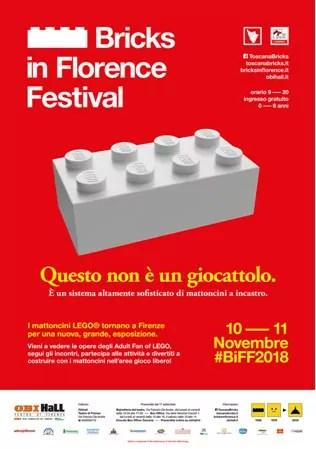 Lego Bricks in Florence festival 2018 locandina