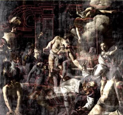 Morphing del Martirio di San Matteo.