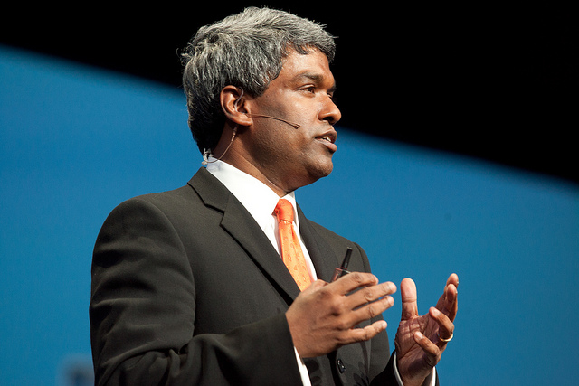 Thomas Kurian, ai tempi in cui era per lo sviluppo del software di Oracle e ora nuovo presidente d Google Cloud (ph. Oracle / Hartmann Studios).