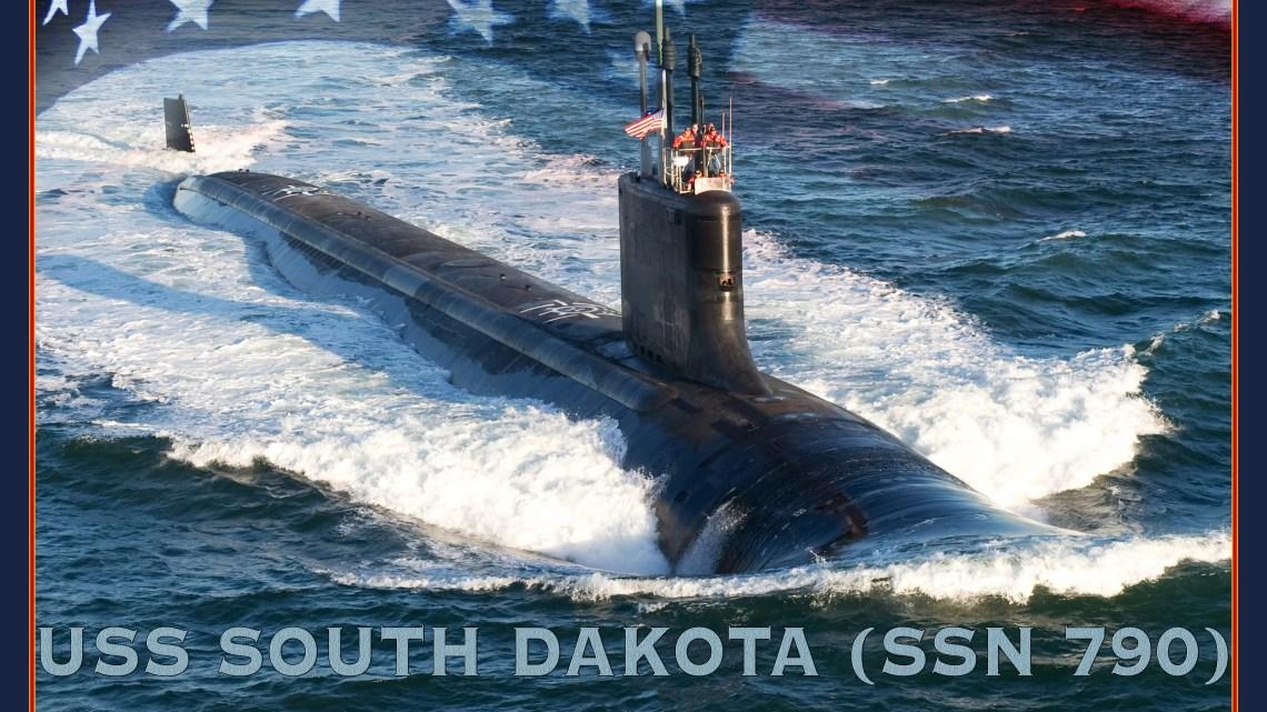 l render del USS South Dakota, sottomarino nucleare d'attacco di ultima generazione della classe Virginia (ph. U.S. Navy / Stan Bailey).
