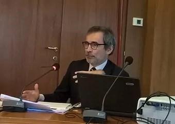 L'assessore regionale del Lazio alle Attività produttive Manzella.
