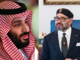 Il Re del Marocco Mohammed VI a destra e il Principe della Corona di Arabia Saudita Mohammed bin Salman a sinistra (ph. Morocco World news).